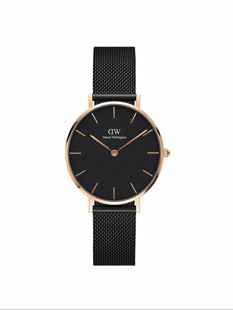 Daniel Wellington Classic Petite Analog Black Dial Women's Watch - DW00100201