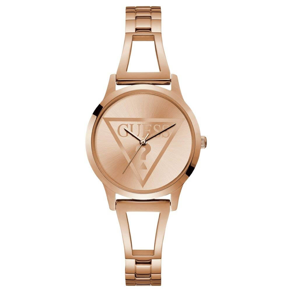 Guess Analog Rose Gold Dial Women's Watch-W1145L4