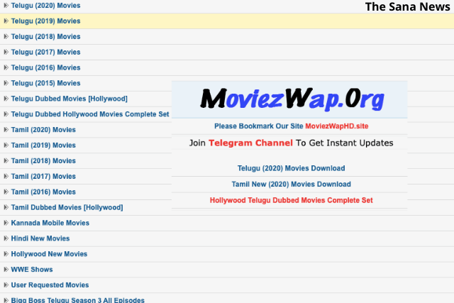 Latest Updates of Telugu, Tamil, and Hindi Movies on MoviezWap In 2020