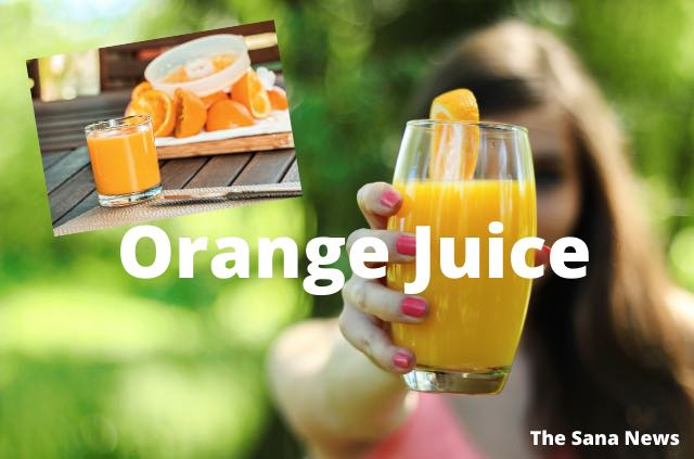 Orange Juice (Without Sugar, Salt)